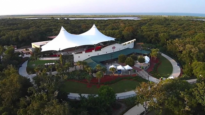 St. Augustine Amphitheatre from the air