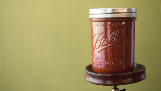 Jar of datil pepper sauce