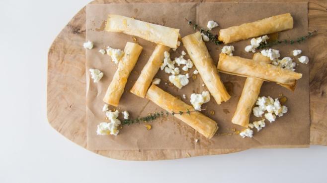 Goat Cheese Honey Cigars