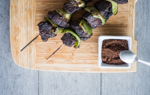 coffee rubbed beef