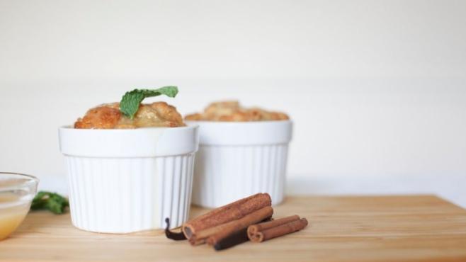 Cornbread Pudding with Salted Bourbon Caramel