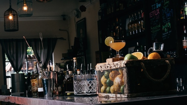 Ancient Molasses cocktail odd birds st. augustine florida