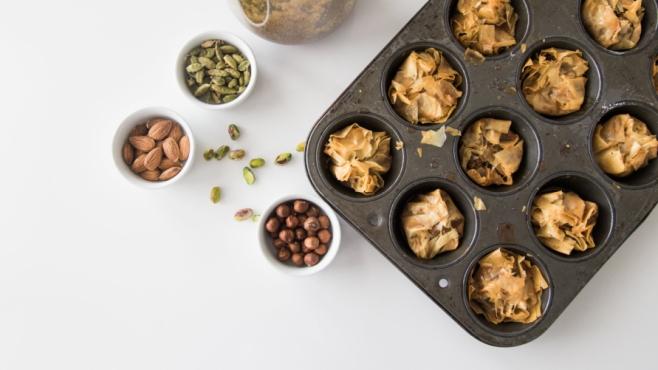 baklava with cardamom and honey