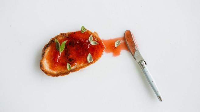 Strawberry basil jam