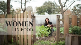 Women in food interviews for Edible Northeast Florida Shelby stec at dog day gardens in st. augustine florida