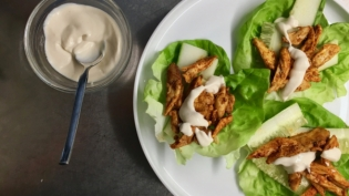 cumin chicken wraps