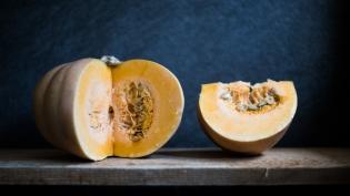 Seminole Pumpkin cut open