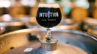 Intuition Ale Works beer in glass