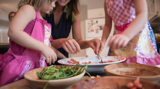 Kids in the kitchen teaching them to cook at home in Northeast Florida