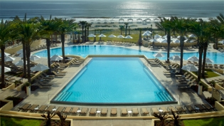 Omni hotel at amelia island pool view from balcony looking out to sea