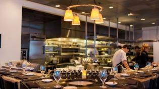 The open kitchen at Restaurant Medure in Ponte Vedra