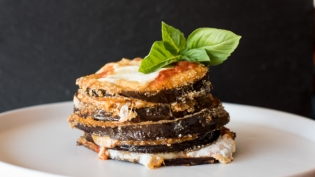 Eggplant Stacks from Juniper Market in St. Augustine Florida