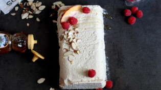 Milk and Honey Semifreddo with almond crunch