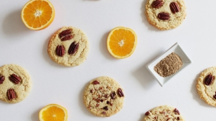 Vegan Cardamom Orange Pecan Cookies