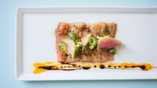 Wahoo crudo from Collage Restaurant