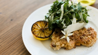 Citrus and Buttermilk Brined Pork Milanese